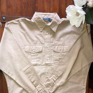Zara Shirt Poshmark Khaki Distressed Sz ShirtsMan M Jc13luTKF